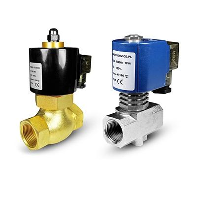 Karšto vandens ir vandens solenoidiniai vožtuvai 180 ° C