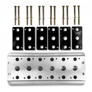 Kolektoriaus plokštė 6 vožtuvų 1/4 serijos 4V2 4A grupės vožtuvų 5/2 5/3 sujungimui
