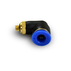 Kampinė kištuko nipelio žarna 4 mm sriegis M5 PL04-M05