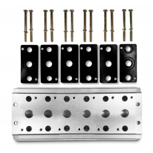 Kolektoriaus plokštė 6 vožtuvų 1/2 serijos 4V4 grupės vožtuvų gnybtui 5/2 5/3 prijungti