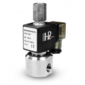 3 krypčių solenoidinis vožtuvas RM23-02 3 x 1/4 colio