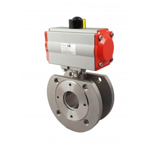 Nerūdijančio plieno rutulinis vožtuvas 1 1/4 colio DN32 su pneumatine pavara AT63