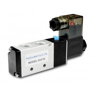 Solenoidinis vožtuvas prie pneumatinių cilindrų 4V210 5/2 1/4 230V 12V 24V