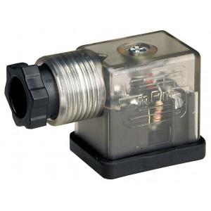 Prijunkite prie solenoidinio vožtuvo DIN 43650B su šviesos diodu - mažas