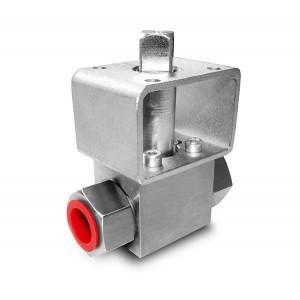 Aukšto slėgio rutulinis vožtuvas 1/4 colio SS304 HB22 tvirtinimo plokštė ISO5211