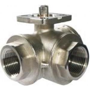 3 krypčių rutulinis vožtuvas 1 colio DN25 tvirtinimo plokštė ISO5211 pramoninė