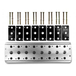Kolektoriaus plokštė 8 vožtuvų 1/4 serijos 4V2 4A grupės vožtuvų 5/2 5/3 sujungimui