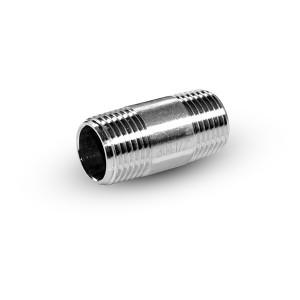 Nerūdijančio plieno vamzdžio nipelis, 1/4 colio, 38 mm