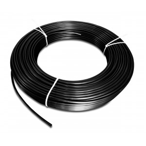 Poliamidinė pneumatinė žarna PA Tekalan 4 / 2,5 mm 1m juoda