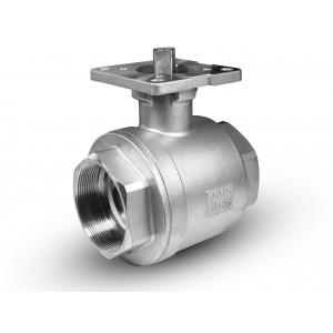Nerūdijančio plieno rutulinis vožtuvas 1 1/4 colio DN32 tvirtinimo plokštė ISO5211