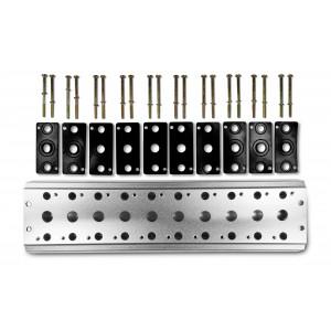 Kolektoriaus plokštė 10 vožtuvų 1/4 serijos 4V2 4A grupės vožtuvų 5/2 5/3 sujungimui