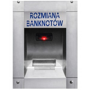 Pinigų keitiklis nuo banknotų iki monetų