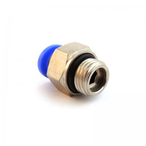 Prijunkite spenelio tiesią žarną 6 mm sriegiu, 1/4 colio PC06-G02