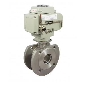 Nerūdijančio plieno rutulinis vožtuvas 2 1/2 colio DN65 su elektrine pavara A1600