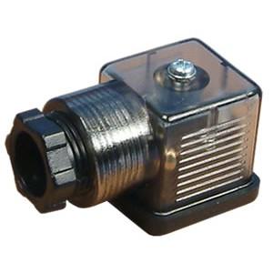 Prijunkite prie 18 mm DIN 43650 solenoidinio vožtuvo su šviesos diodu