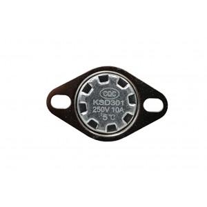Bimetalinis termostatas, NC temperatūros jutiklis 5 ℃ 10A 230VAC tipas KSD301