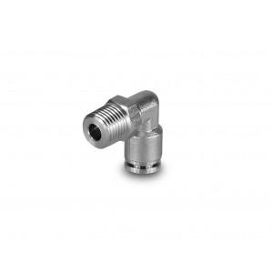 Įkiškite spenelio kampinę nerūdijančio plieno žarną, 6 mm sriegis, 1/4 colio PLSW06-G02