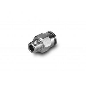 Įkiškite spenelio tiesią nerūdijančio plieno žarną, 12 mm sriegį, 1/4 colio PCSW12-G02